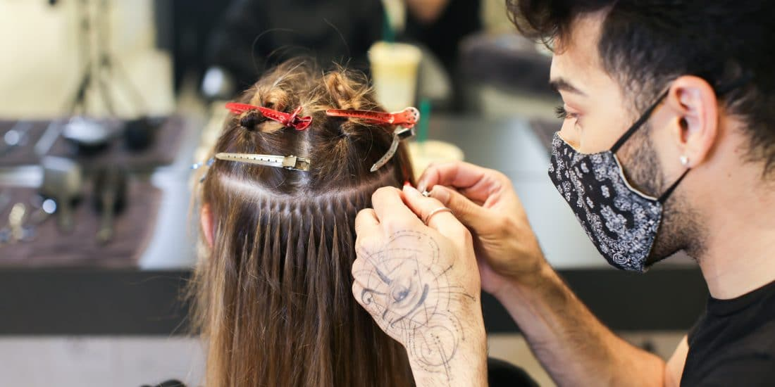 hair extensions application